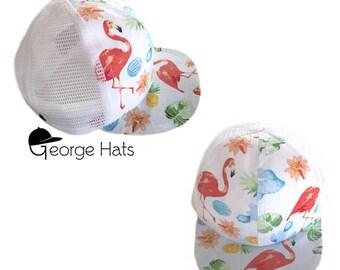 Toddler & Kids Trucker Hat / Baby Trucker Hat / Kids Snapback / Tropicana