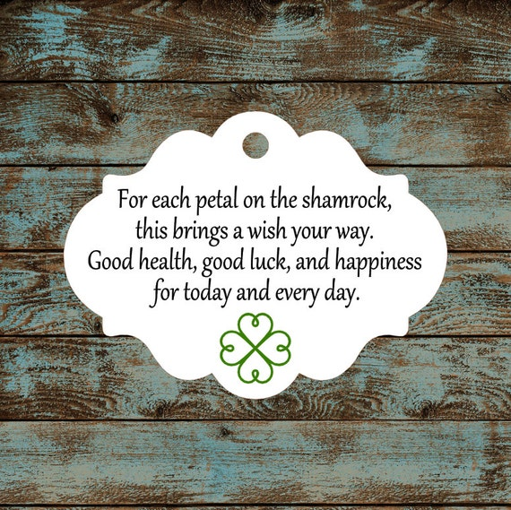 Favor Tags - Irish Blessing #605 Qty: 30 Tags
