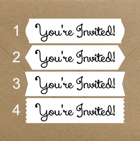 Envelope Seals / Stickers - You're Invited # 730 Qty: 40 Stickers