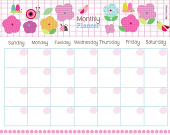 PRINTABLE monthly flower planner