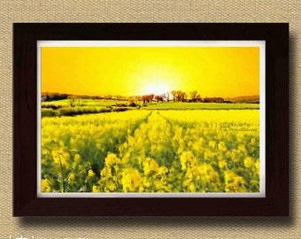 Mellow Yellow Landscape Print