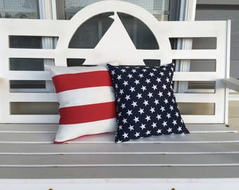 Memorial Day and 4th of July Throw Pillow Cover