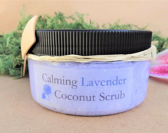 Handmade Whipped Sugar Scrub, Lavender, Natural Skin Care, Sugar Scrub Favors, Bath and Beauty, Organic Coconut,  Mothers Day