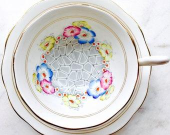 Royal Albert Rockery Floral Tea Cup and Saucer