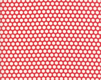 1 Yard Bonnie and Camille Basics by Moda -55023-31 Bliss Dot Red
