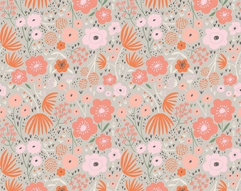 1 Yard Ava Rose by Deena Rutter for Riley Blake Designs-  5872 Gray Floral