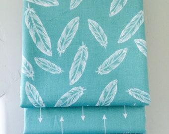 SALE!! Fat Quarter Bundle By Popular Demand by Simple Simon for Riley Blake Designs with Hash Tag Fabric- 3 Fabrics Teal