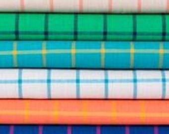 Fat Quarter Bundle Checks Please/ Window Dressing by Cloud 9 Fabrcs- 14 Fabrics