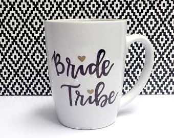 Custom Bride Tribe Gift- Personalized Coffee Mug-Bridesmiad Gift Bachelorette Party Decor Gift Ideas, Bridal Shower Favors Gift for Weddings