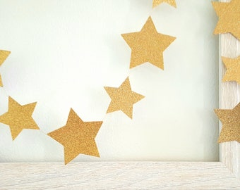 ON SALE !! Star Garland/Gold star garland/Twinkle Twinkle Little star garland/Glitter star Garland/Twinkle Little Star Decoration/Star party