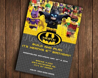 Lego Batman Invitation | Lego Batman Birthday