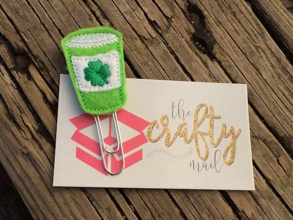 St. Patrick Clover Coffee Clip/Planner Clip/Bookmark. St. Patrick's planner clips. St. Patty's