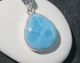 Blue larimar Pendant In Sterling Silver 925, Handcrafted Jewelry