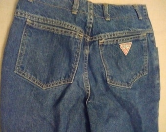 Vintage Guess Jeans Size 30 Button Front Fly Closure George Marciano 1980's