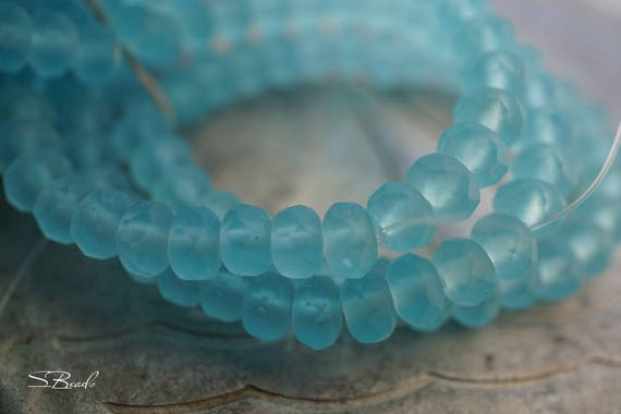 Alaskan Blue, Rondelle Beads, Czech Beads, Beads, N2302 ...