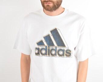 Vintage Adidas T-shirt Size M (1633)