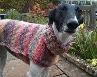Summer pinks jumper for good sized lurcher / dainty greyhound - Ready to post
