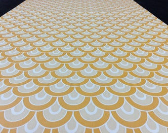 70s wallpaper vintage half yard yellow drops vintage 1970