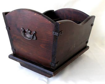 Vintage Magazine Holder, Cradle Style
