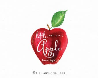 apple logo design fruit logo design organic fruit logo boutique logo premade logo photography logo beauty logo pop up shop logo watermark