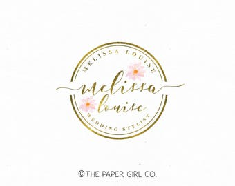 florist logo wedding logo floral logo flower logo event planner logo beauty logo watercolor logo make up logo dahlia logo photography logo