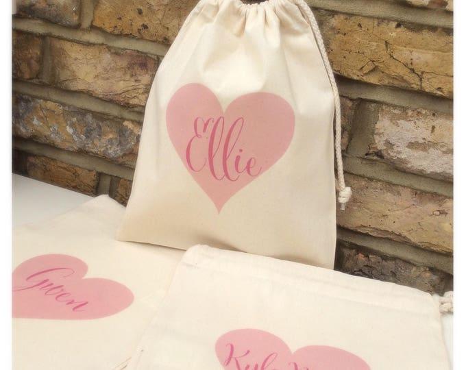 Personalised gift bags | Thank you keepsake bag | Tote bag | Bridesmaid | Flower girl | Maid of honour.