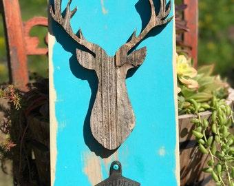 Reclaimed Deer, Bottle Opener, Sign, Reclaimed, Deer, Lasercut, laser cut sign, cabin