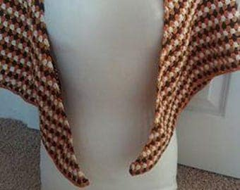 Retro 60's crochet wrap !