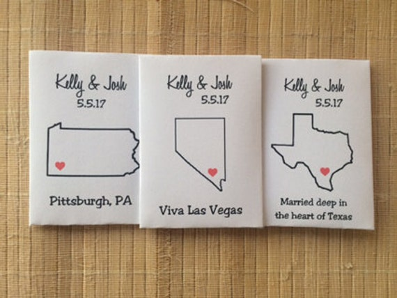 50 custom hometown wedding favors, state wedding seed packets, home state wedding decor, state wedding decor, state wedding favors