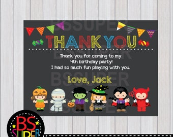 Halloween Party Thank You Card