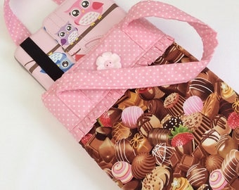 iPad case / iPad sleeve / bag with handles / girls iPad bag / chocolate / iPad bag / iPad air 5 bag / padded iPad bag / novelty bag
