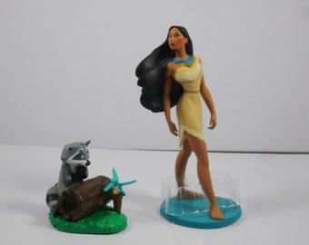 Pocahontas cake topper set of 2,Pocahontas and Meeko, princess birthday cake, Pocahontas birthday cake