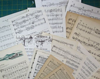 Assorted Sheet Music bookpaper for mixed media and papercrafting projects