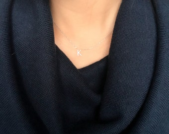 Diamond Initial Necklace / diamond letter necklace / alphabet necklace
