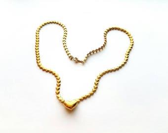 Vintage Avon Gold Hearts Necklace