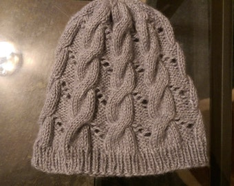 Eyelet Cable Hat