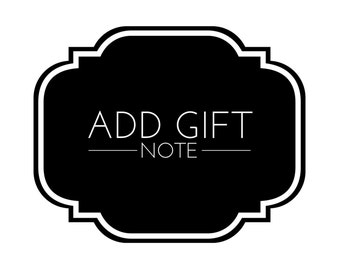 Include Gift Note - ADD-ON - Please read the description.