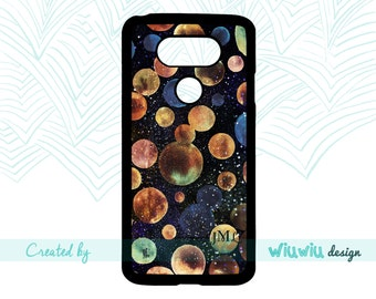 Watercolor Cosmos Universe Planets glitter stars initial monogram amazing gift idea case lg phone cover for lg g6 / lg g5 / lg g4 / lg g3