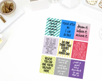 Inspire #2 Quotes Stickers! Perfect for your Erin Condren Life Planner, calendar, Paper Plum, Filofax!