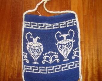 Collectible Vintage Greek Travel Bag Tagari