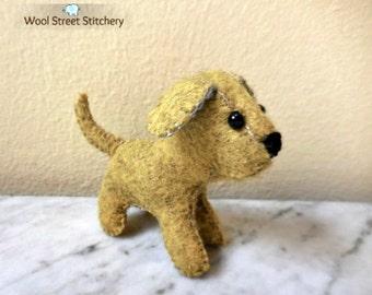 Felt stuffed puppy, small felt dog, felt stuffed animal, soft toy gift