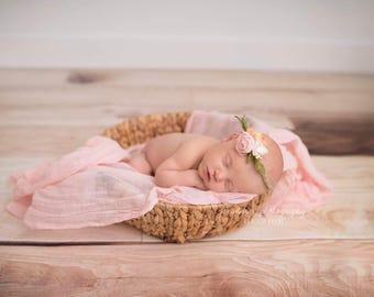 NewbornPhotography Prop Floral Crown {Grace}