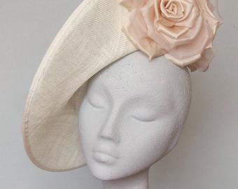 Ivory Fascinator Ascot Hat - Julia