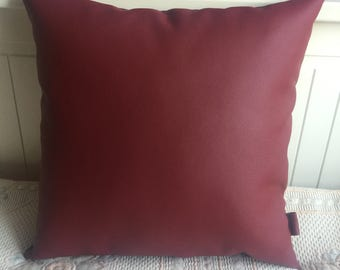Handmade Faux Leather 35x35cm red