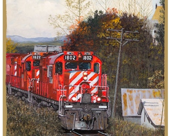 """Canadian Pacific """"In Vermont"""" Wood Plaque / Sign / Man Cave"""