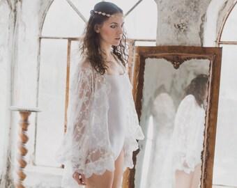 Handmade wedding kimono, spolverino per sposa