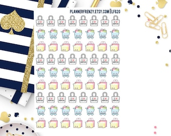 66 Itty Bitty Kawaii Retail Therapy Planner Stickers! LF620