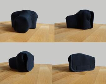 Neoprene camera case, Dark blue, Blue, Green, Velcro, Portable, Camera Sleeve