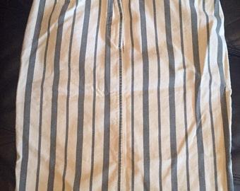 1980's vintage striped skirt size 10