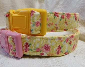 Pretty Dog Collar / Yellow Dog Collar / Girl Dog Collar / Female Dog Collar / Summer Collar for Dog / Soft Dog Collar / Puppy Collar